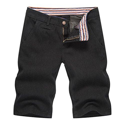 MOIKA Mens Boys Sommer Denim Shorts Jeans beiläufige Denim-Hosen(M,Schwarz)