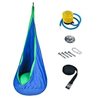 Harkla Hanging Chair Sensory Swing for Kids - Includes Hardware - Great as a Hanging Pod Swing, Autism Swing or Therapy Swing