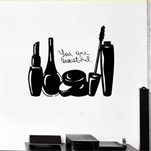 Cmdyz Maquillage Cosmétiques Salon De Beauté Ongles Fille Femme Stickers Muraux Vinyle Decal Taille 45 * 56 Cm