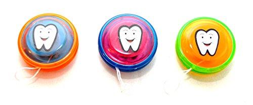 10 Stück Yo Yo mit Zahn Motiv für tapfere Kinder by schenkfix
