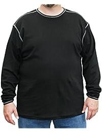 VANDAM 7790 Pull Noir - Grandes Tailles - Homme - 3XL-6XL