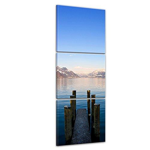 bilderdepot24-cuadros-en-lienzo-steg-ii-30-x-90-cm-3-piezas-listo-tensa-directamente-desde-el-fabric
