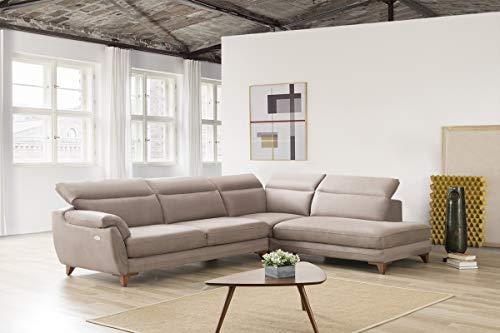 Sofa dreams - divano angolare moderno in tessuto con funzione relax