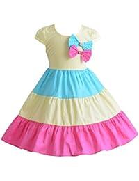 Cinda Vestido de fiesta de niñas color aro algodón