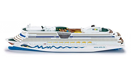 SIKU 1720, Kreuzfahrtschiff AIDALuna, 1:1400, Metall/Kunststoff, AIDA-Optik, Nicht schwimmfähig