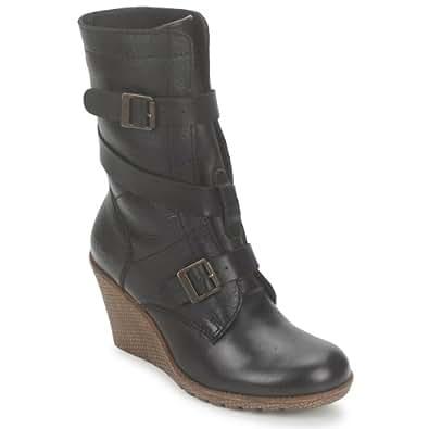 kickers heroine bottes mode femme noir cuir taille. Black Bedroom Furniture Sets. Home Design Ideas