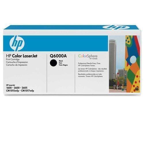 Original Toner für HP 124A Q6000A Black HP Color LaserJet 1600 2600N 2605DN CM1015MFP CM1017MFP (ca. 2.500 Seiten) Black Schwarz -