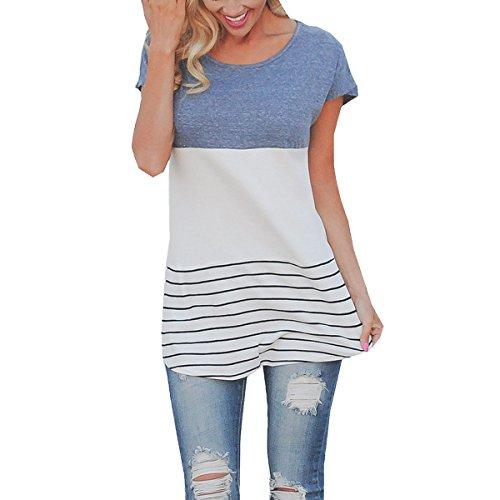 Leezeshaw Damen T-Shirt Blau