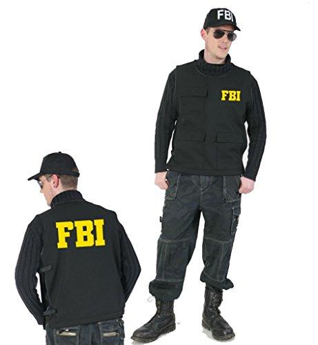 KarnevalsTeufel Herrenkostüm Weste FBI, Schutzweste, Police-Officer, Ploizist, Agent Weste Gr M, XL (M)
