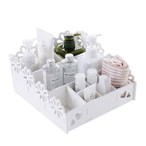 Zfggd Makeup Organizer Makeup Organizer Schubladen, Arbeitsplatte Kosmetikkoffer Schmuckkästchen für Pinsel, Lippenstift, Foundation, Schlafzimmer Badezimmer