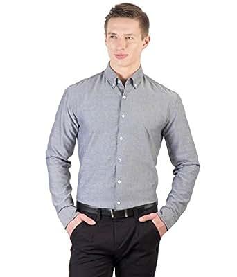 Hypernation Grey Color Formal Shirts For Men