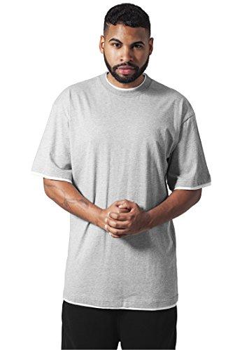 Urban Classics TB029A Herren T-shirt Bekleidung Contrast , Mehrfarbig (Gry/Wht 132)
