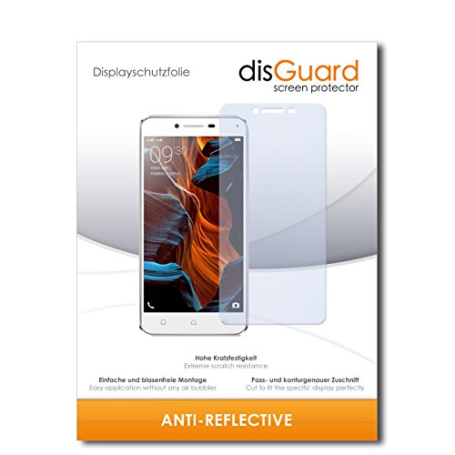 disGuard® Bildschirmschutzfolie [Anti-Reflex] kompatibel mit Lenovo Vibe K5 [2 Stück] Entspiegelnd, Matt, Antireflektierend, Extrem Kratzfest, Anti-Fingerabdruck - Panzerglas Folie, Schutzfolie