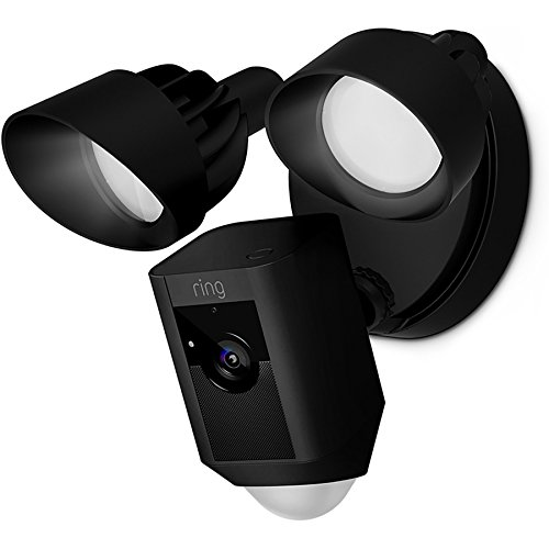 Ring Floodlight Cam HD Security Camera with Built-In Floodlights/Two-Way Talk and Siren Alarm, Black