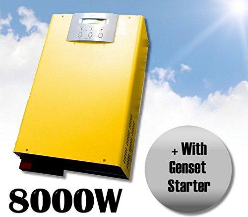 Gowe Off Grid Wechselrichter 8000W Solar Power Inverter Ladegerät reiner Sinus Wechselrichter mit Ladegerät Output 220V 48V