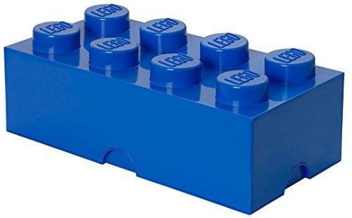 *Lego Brique de Rangement 8 plots, Boîte de Rangement empilable, 12 l, Bleu Vente