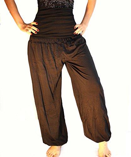 Damen Yoga Pant 19 Farben Haremshose Pumphose Pluderhose bequem Einheitsgröße S - XXL