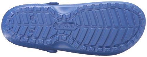 Crocs Classic Lined Clog, Zoccoli Unisex – Adulto Blu (Cerulean Blue/Navy)