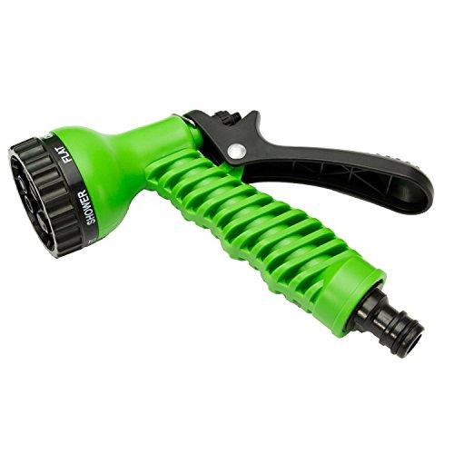 50 Ft Garden Hose Pipe Expandable Hose Pipe | Super Light Weight Expandable Hose Pipe | Natural Latex Triple Layer | 7 Setting Sprayer | Expanding Hose | Magic Hose Expands up to 15 metres / 50 ft (50 Ft hose)