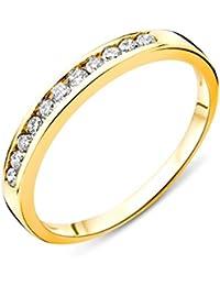Miore Damen Gelbgold Diamant Hochzeitsband 14KT (585), Brillanten 0.2 ct