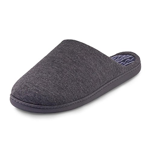 isotoner-stripe-pillowstep-mule-slippers-grey-uk-size-11