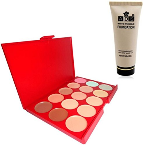 Ads Concealer White Invisible Foundation (Set of 2)