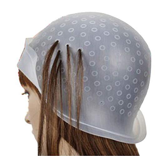MMLC Haare Färben Kappe, Professional Salon Silikon Friseur Werkzeuge, mit Coloring Hair Hook (klares)
