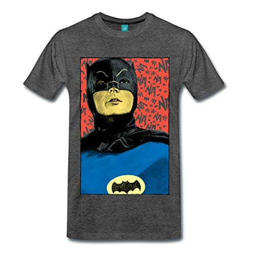 Spreadshirt DC Comics Batman Vintage Kostüm Porträt Männer Premium T-Shirt, XXL, Anthrazit