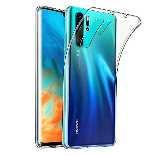 Amonke Handyhülle für Huawei P30 Pro - Soft Flexible Huawei P30 Pro Hülle Silikon Transparent, Ultra Clear TPU Case Cover Durchsichtige Handytasche Schutzhülle für Huawei P30 Pro (6,47 Zoll) -