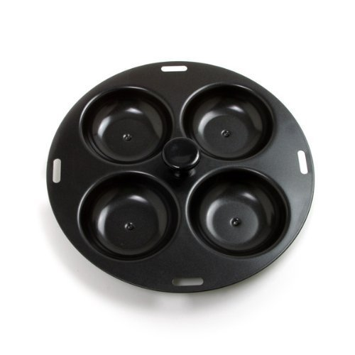 Norpro 4 Egg Poacher, Schwarz Non-stick Egg Poacher