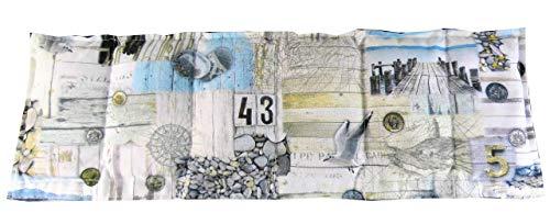 Körnerkissen Wärmekissen Dinkelkissen 60x20 Maritim weiß/beige/blau 100{b2b7cde2dfe05f94f0da831be625896c129e3229916130a812c409c589e8c4a7} Baumwolle 200g/qm