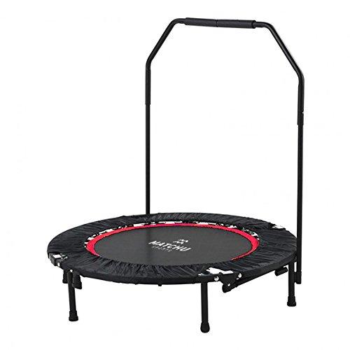 Matchu Sports Fitness-Trampolin (Ø 101cm) mit Griff, Metallfedersystem, Indoor Trampolin, Fitnesstrampolin für Zuhause