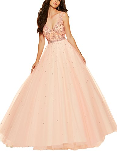 Bridal_Mall - Robe de mariage - Trapèze - Sans Manche - Femme lightcoral