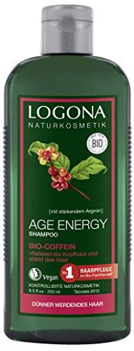 LOGONA Naturkosmetik Age Energy Shampoo Bio-Coffein, 250ml