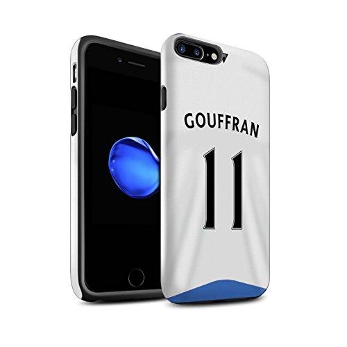 Officiel Newcastle United FC Coque / Brillant Robuste Antichoc Etui pour Apple iPhone 7 Plus / Rivière Design / NUFC Maillot Domicile 15/16 Collection Gouffran