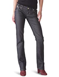 Freesoul Stephanie Green Tech - Jean - Cigarette - Enduit - Femme