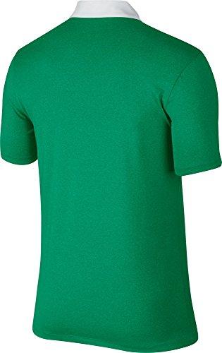 Nike Icon Heather–Polo per uomo verde / bianco