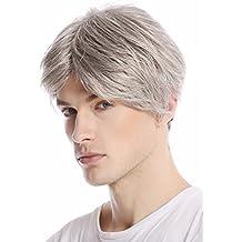 WIG ME UP ® - GFW967-51 Peluca hombre corta raya de medio color moderno