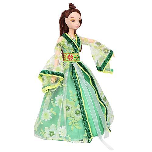 Dress Doll Kostüm Up - Zerodis Chinesische Minipuppen Antike Kostüm Vier Jahreszeiten Prinzessin Dress Up Dolls Box Set Geburtstag Mädchen Kinder(Frühling)