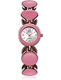 Naivo Women's Quartz Stainless Steel Casual Color:Pink (Model: WATCH-1023)