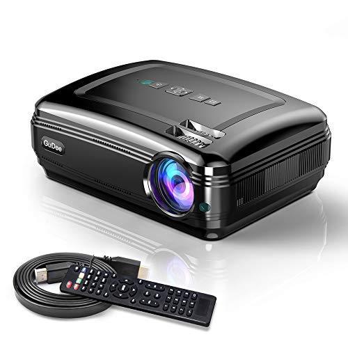 Video Beamer 3500LM 5.8'' LCD Projektor 20000: 1 Kontrast unterstützt 1080P Full HD, Multimedia Unterstützung HDMI USB VGA AV für Office Powerpoint Präsentationen Heimkino Schwarz