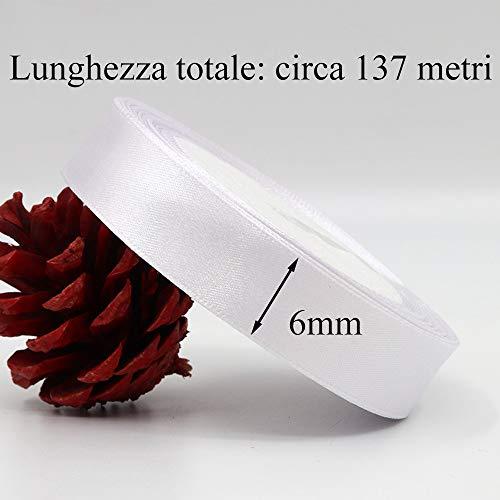 Zoom IMG-2 gudotra 137m nastro raso bianco