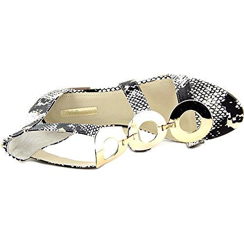 BCBGeneration Faroh Femmes Cuir Sandales Gladiateur Gold Vip Snake