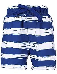 b9d3c2cf64 LACOFIA Pantalones Cortos de baño para niños Bañador de Playa con Cintura  elástica ...