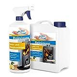 PROCaso Kamin- und Ofenglasreiniger 1 Liter mit Zerstäuber + 2,5 Liter Nachfüllpack. Kaminglas Ofenglas Ruß Rußentferner Rußreiniger