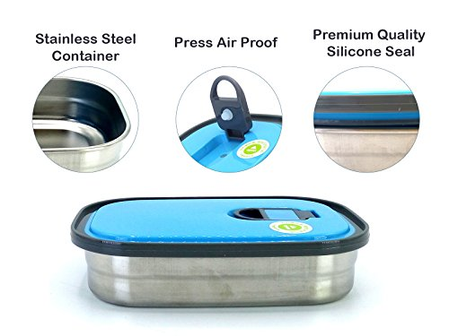 Magnas™ Homio Stainless Steel Container, Lunch Box, Tiffin Box, Snacks Box, Steel Bowls (Rectangle)