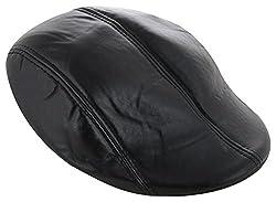 Zacharias Black Leather Golf Cap Boy