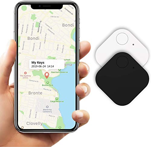 Kimfly Key Finder Anti-Lost Tracker, Schlüsselfinder mit Bluetooth Tracker Wallet Telefonschlüssel Alarm Reminder für Telefon Haustiere Schlüsselbund Brieftasche Gepäck