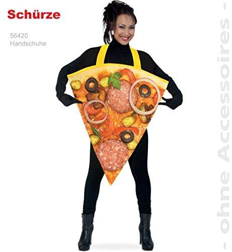 Pizza Schürze 1 tlg Party Fasching Kostüm Unisex (Karneval Italien Kostüme)