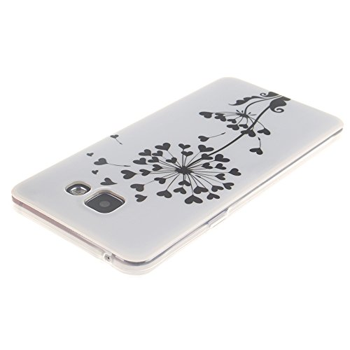 Samsung Galaxy A3(2016) A310 hülle MCHSHOP Ultra Slim Skin Gel TPU hülle weiche Silicone Silikon Schutzhülle Case für Samsung Galaxy A3(2016) A310 - 1 Kostenlose Stylus (Black Lion) Loving Heart Dandelion